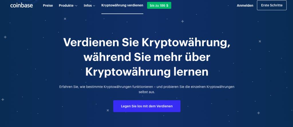coinbase earn screenshot